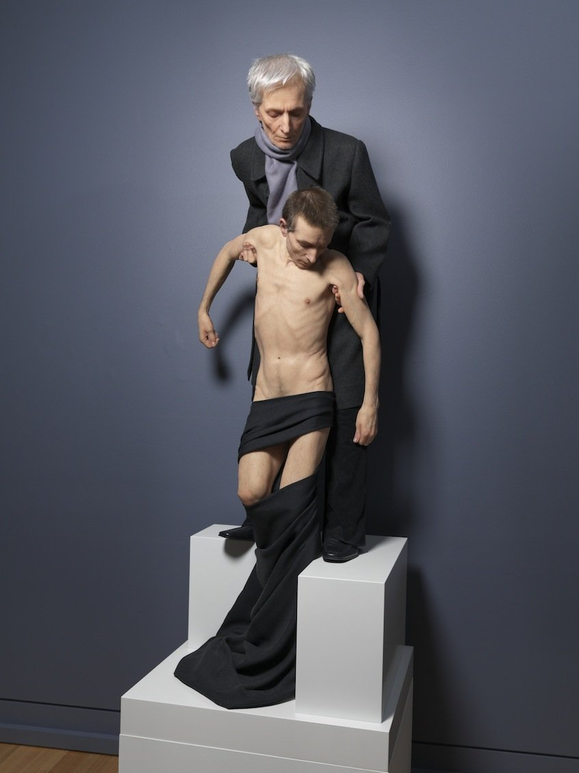 Sam Jinks 2014 Silicone, pigment, resin and human hair 63 x 23 3/4 x 23 3/4 inches /  160 x 60 x 60 cm 2015 Marc Straus Gallery