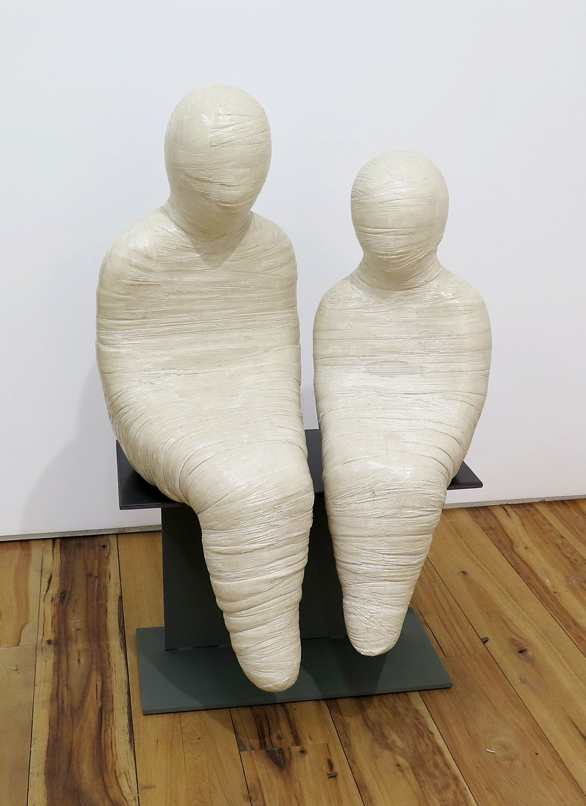 Emil Alzamora 2015 Gypsum and Steel 42 1/2 x 25 1/2 x 18 inches / 108 x 65 x 46 cm 2015 Marc Straus Gallery