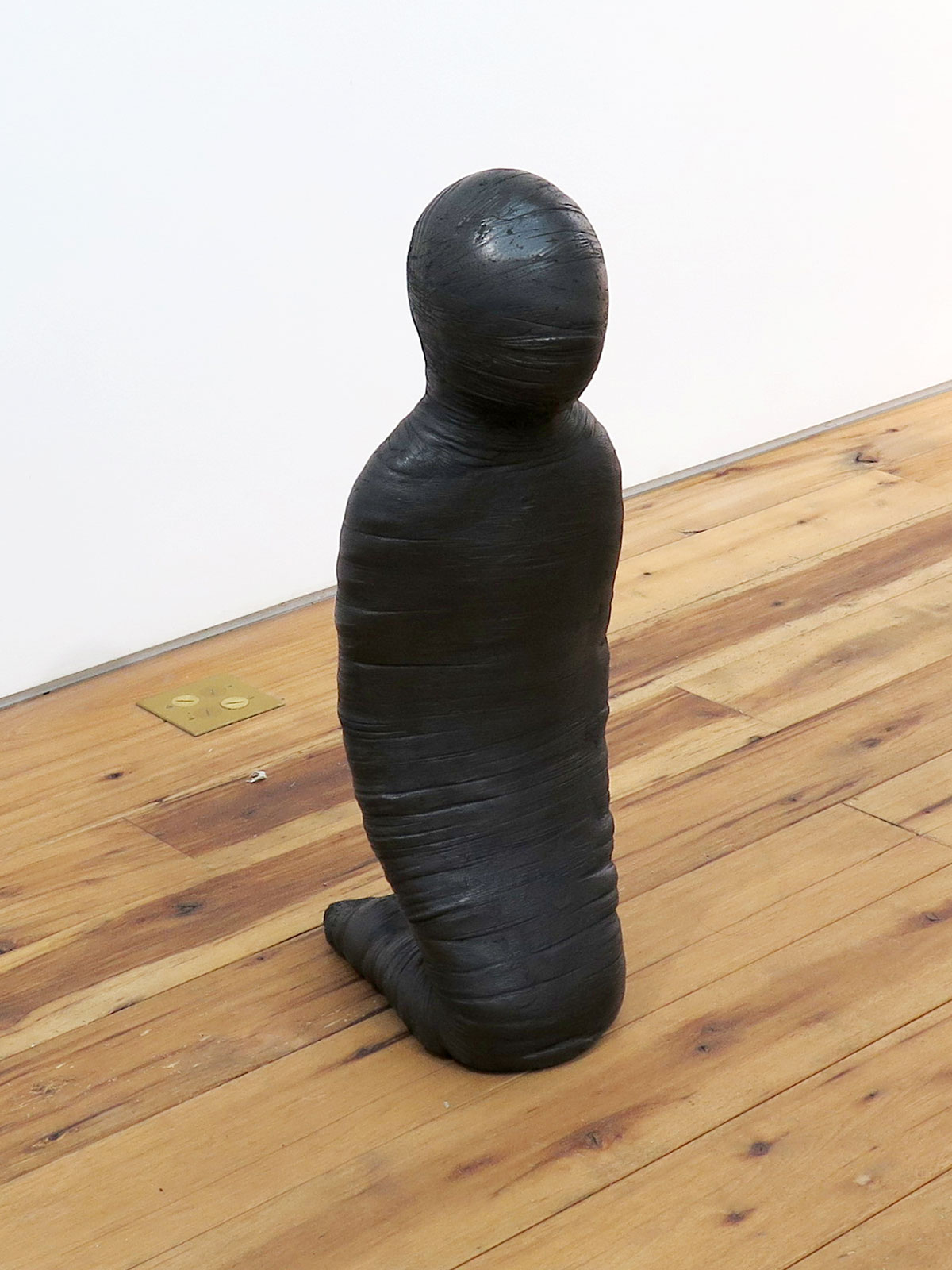 Emil Alzamora 2015 Gypsum with graphite wax finish 31 x 10 x 13 1/2 inches / 79 x 25 x 34 cm 2015 Marc Straus Gallery