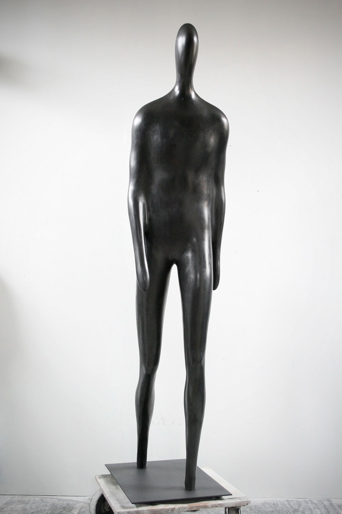 Emil Alzamora 2015 Gypsum With Graphite Wax Finish 82 x 18 x 33 inches / 208 x 46 x 84 cm 2015 Marc Straus Gallery