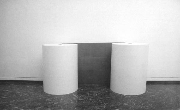 1988-1990 Graphite, Paper Rolls 47 x 106 x 38 1/2 inches / 120 x 270 x 98 cm - Marc Straus Gallery