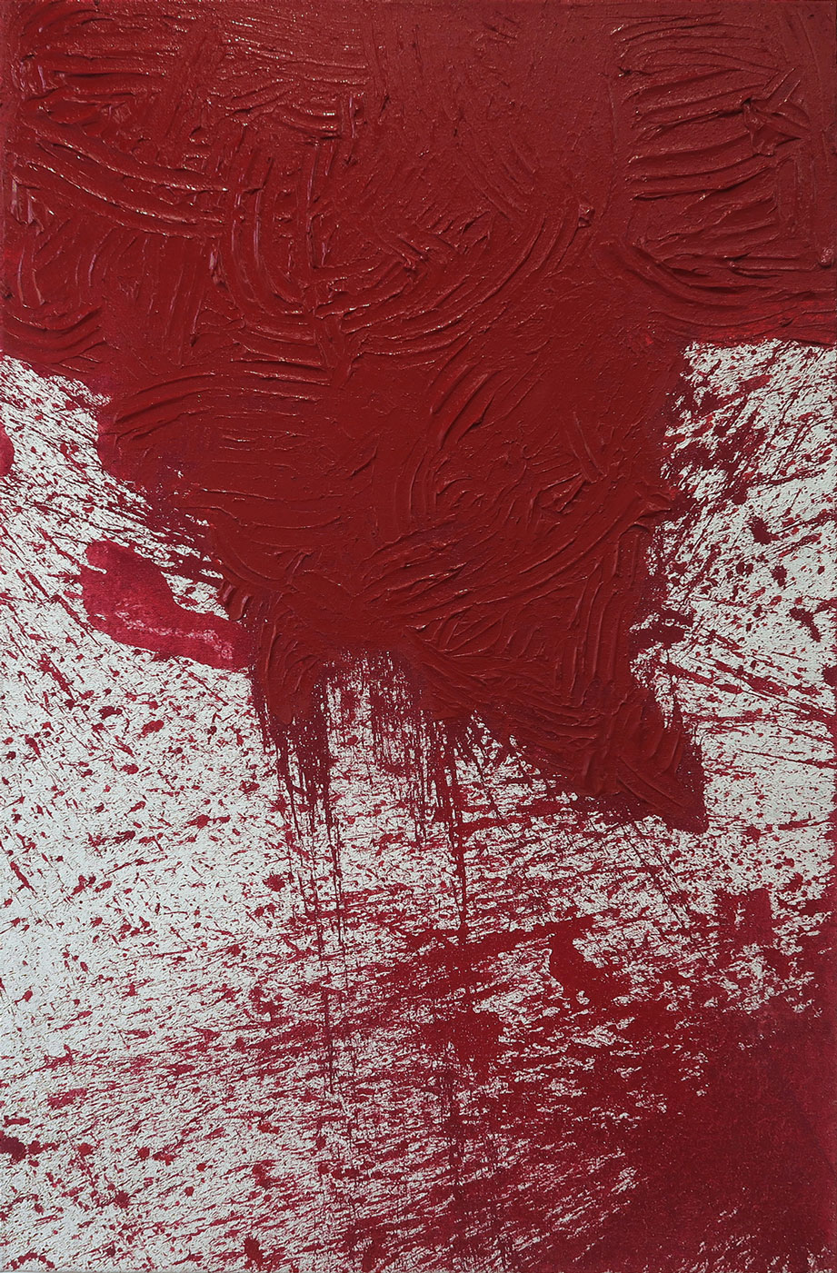 Hermann Nitsch 2013 Acrylic on Canvas 59 x 39 1/2 in 150 x 100 cm 2015 Marc Straus Gallery