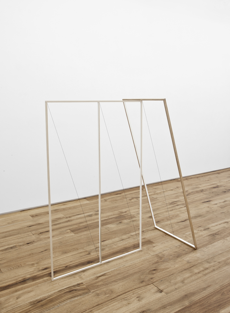 2013 Wood, string, paint  60 x 25 x 58 inches / 152.4 x 63.5 x 147.3 cm - Marc Straus Gallery