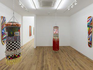 Jeffrey Gibson's exhibition at Marc Strauss Gallery