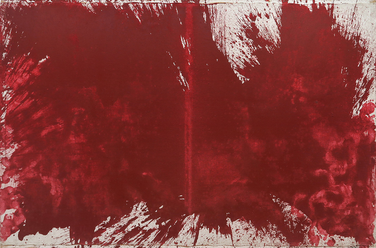 Hermann Nitsch 1983 Oil on Canvas 78 3/4 x 118 1/4 in 200 x 300 cm 2015 Marc Straus Gallery