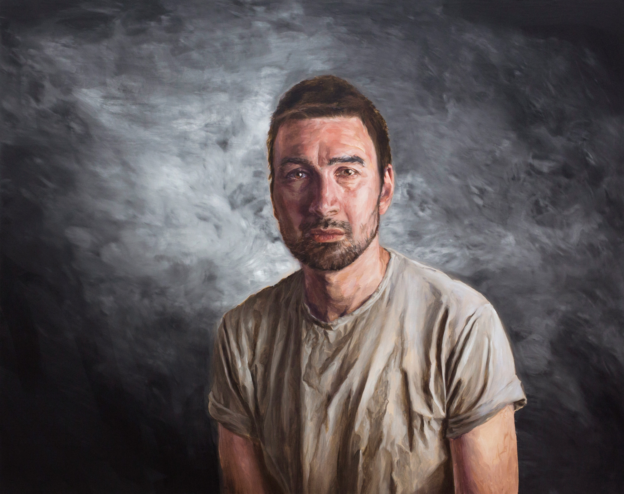 The Incredible Likeness of Being Self-Portrait No.3 2016 Oil on Canvas 59 x 75 inches 2016 Marc Straus Gallery