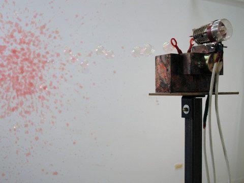 Red Blossom (Installation detail)