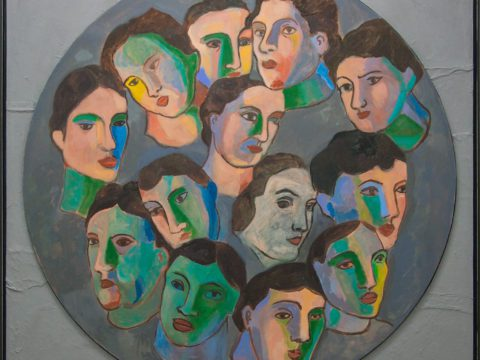 Tondo of Faces