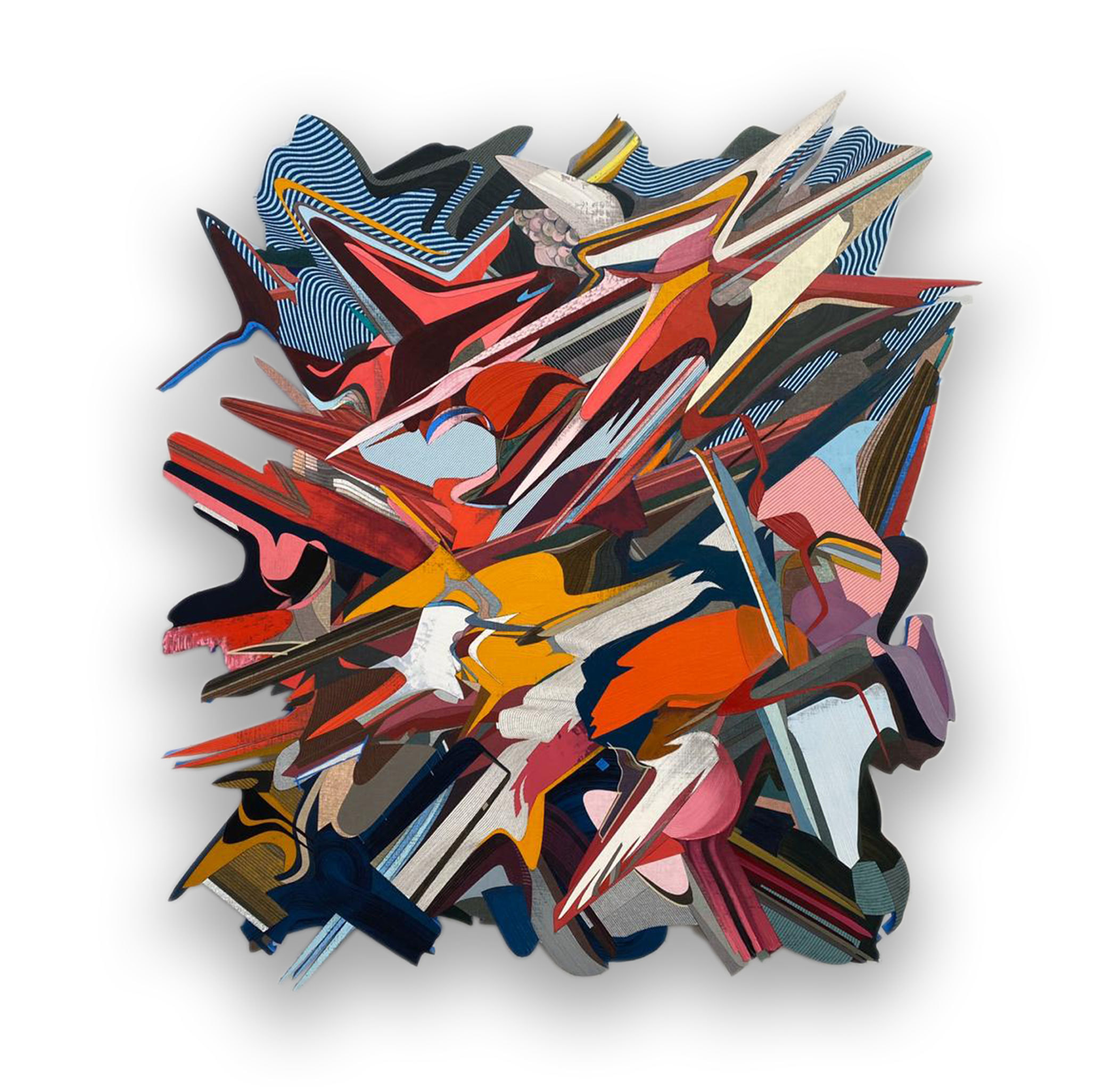 2020 Oil & Acrylic on Linen Mounted on Panel 70.866 x 64.961 in (180 x 165 cm) - Marc Straus Gallery