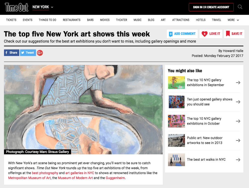 Timeout names sandro chia top 5 new york art shows marc for Craft fair nyc 2017