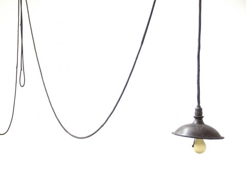 Hanging Light Bulb with Shade