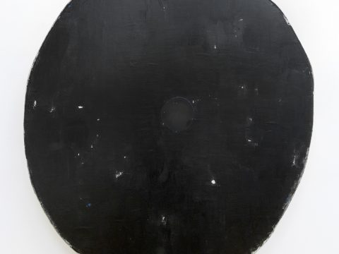 Black with One Black Circle
