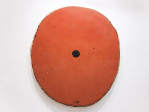 Red Oxide with One Black Circle
