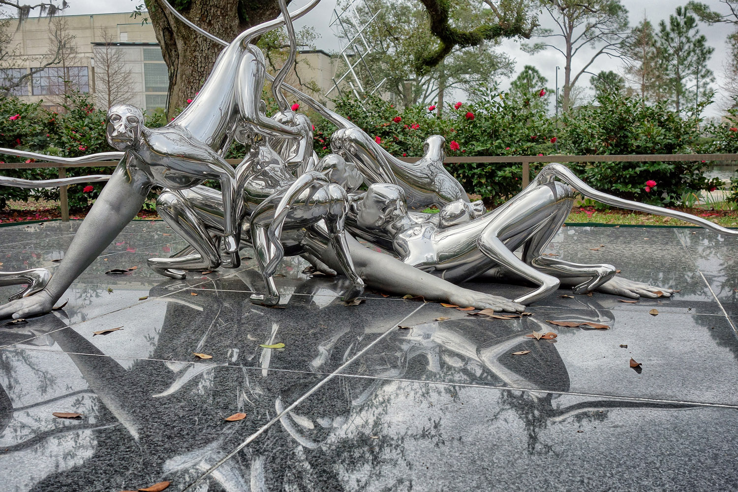 1998-2001 Stainless steel, 3/6 41 1/4 x 66 x 85 1/2 in (104.77 x 167.64 x 217.17 cm) New Orleans Museum of Art, Sculpture Garden - Marc Straus Gallery
