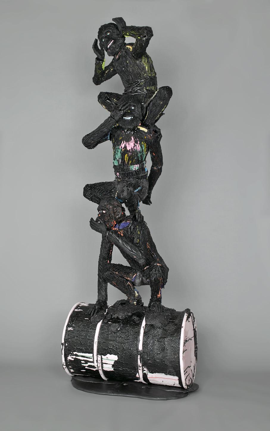 2008 Pigmented polyurethane, Styrofoam, Wood 118 x 39 x 39 in (300 x 100 x 100cm) - Marc Straus Gallery