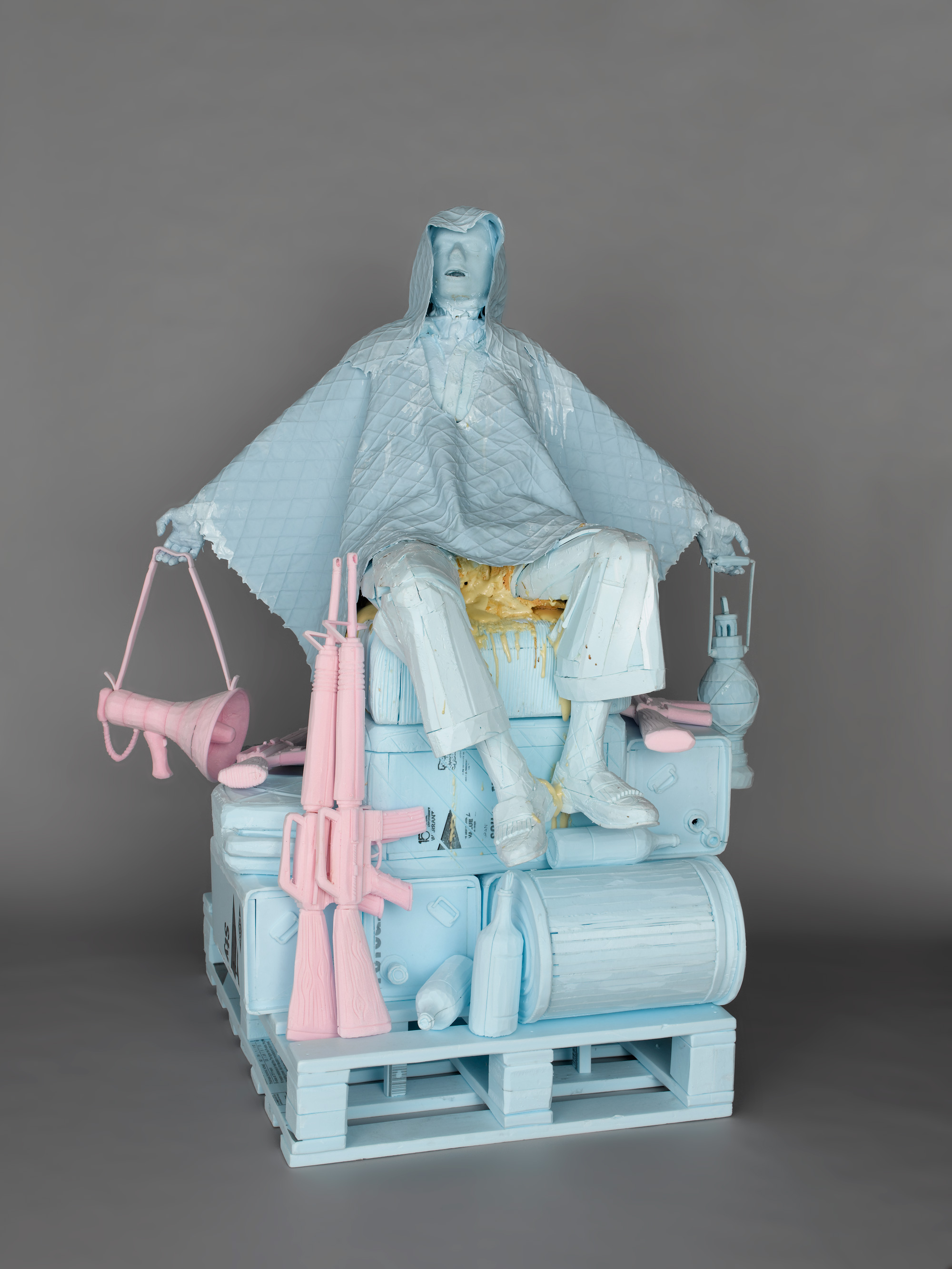 STEREO LOVE SEATS HOT WHEELS 2004 Styrofoam, polyurethane foam, silicone rubber 67 x 39.4 x 39.4 in (170 x 100 x 100cm)  2018 Marc Straus Gallery
