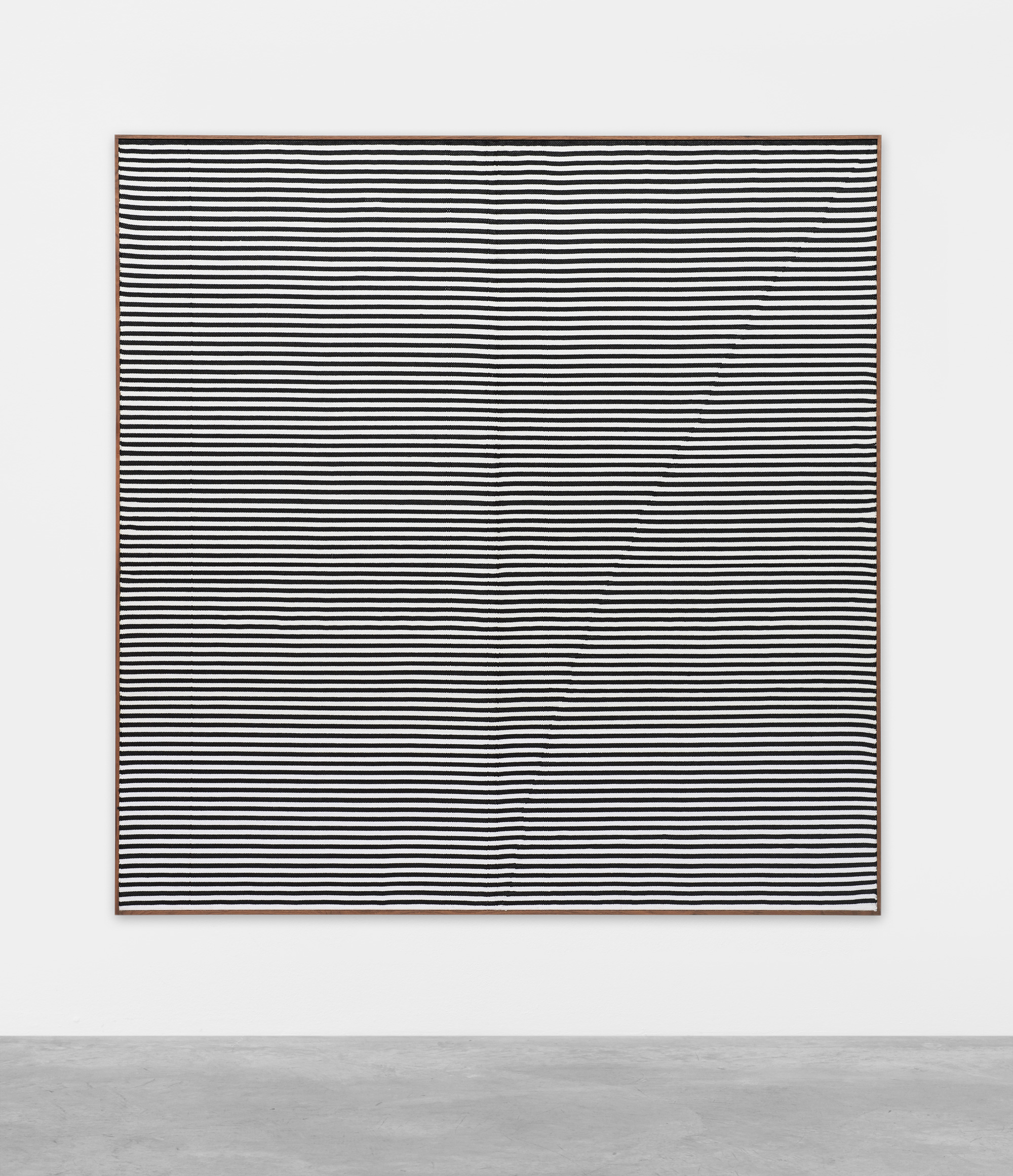SUTURES Untitled 2017 Hand woven fibers, wool, cotton and acrylic on canvas 72 3/8 by 74 1/4 in.  183.8 by 188.6 cm © Brent Wadden; Courtesy of the artist and Mitchell-Innes & Nash, New York 2018 Marc Straus Gallery
