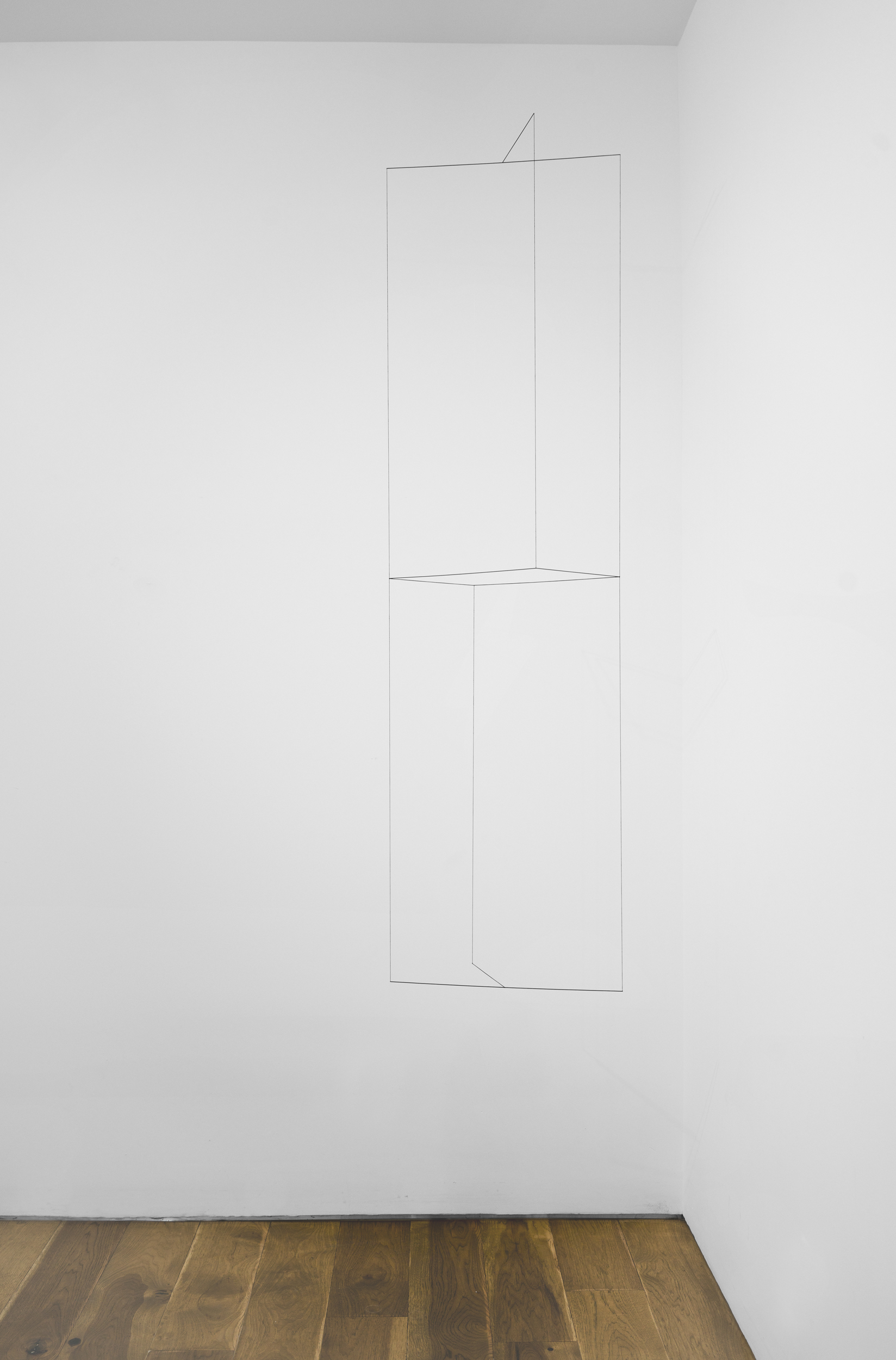 Jong Oh 2018 Metal rod, string, fishing wire, paint 69 x 16.5 x 11 in (175.3 x 41.9 x 27.9 cm) 2018 Marc Straus Gallery