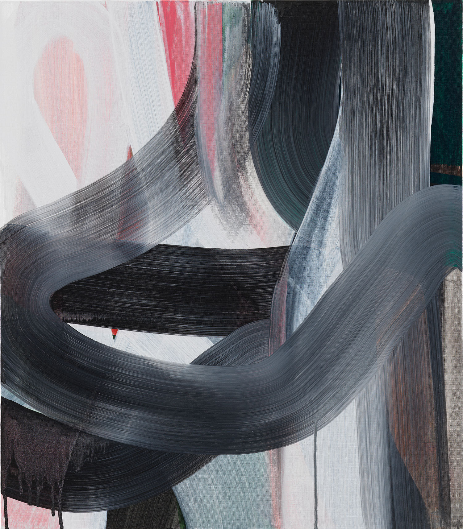 Liliane Tomasko sharper turn 2019 Acrylic on linen 32 x 28 inches (81.3 x 71.1 cm) 2019 Marc Straus Gallery