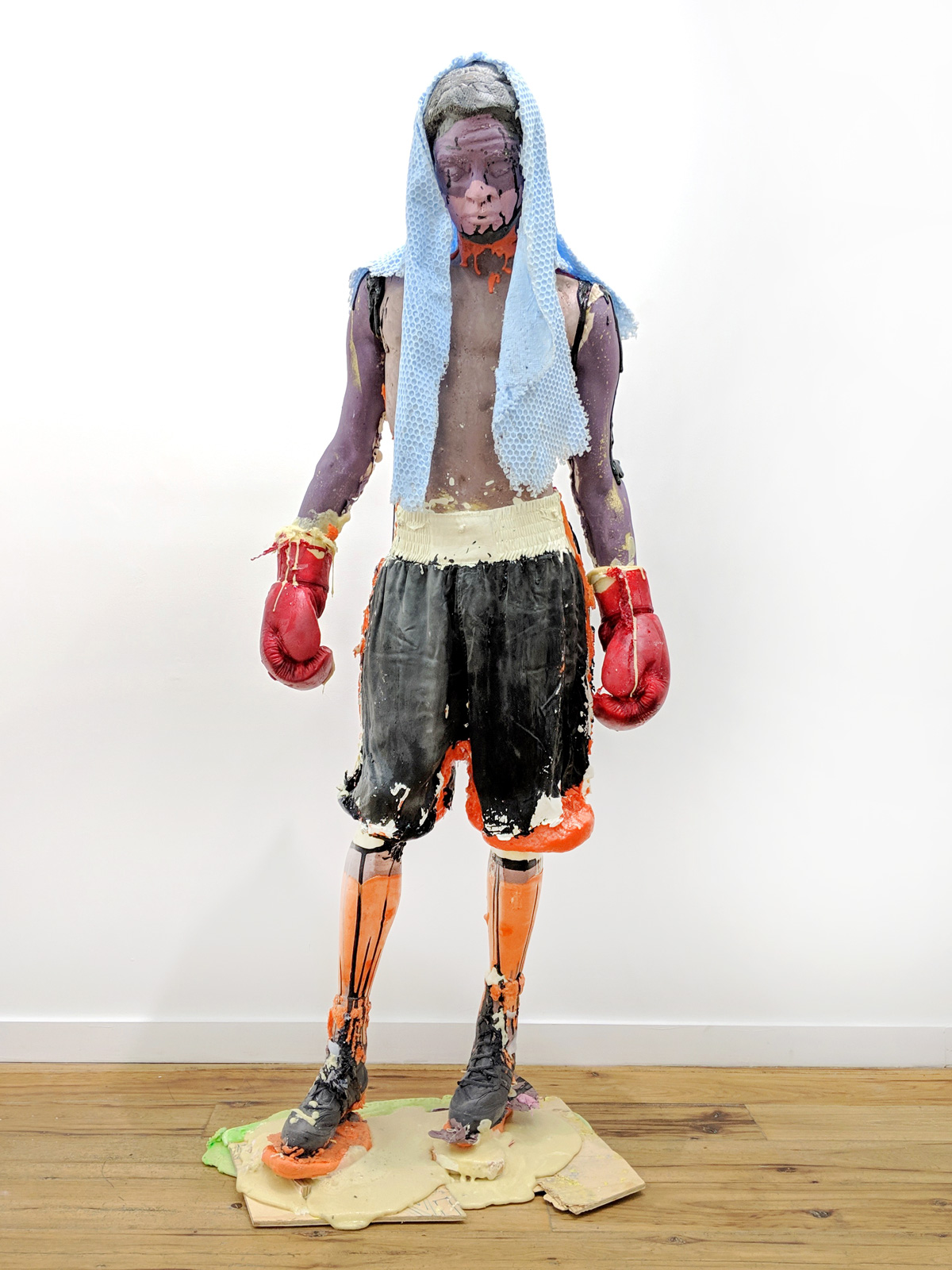 Folkert de Jong 2019 Pigmented polyurethane, plywood, metal, silicone rubber 74.8 x 19.69 x 25.59 inches (190 x 50 x 65 cm) 2019 Marc Straus Gallery