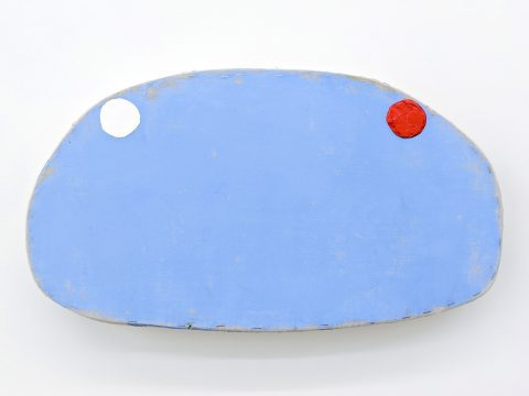 Blue with Red and White Circles