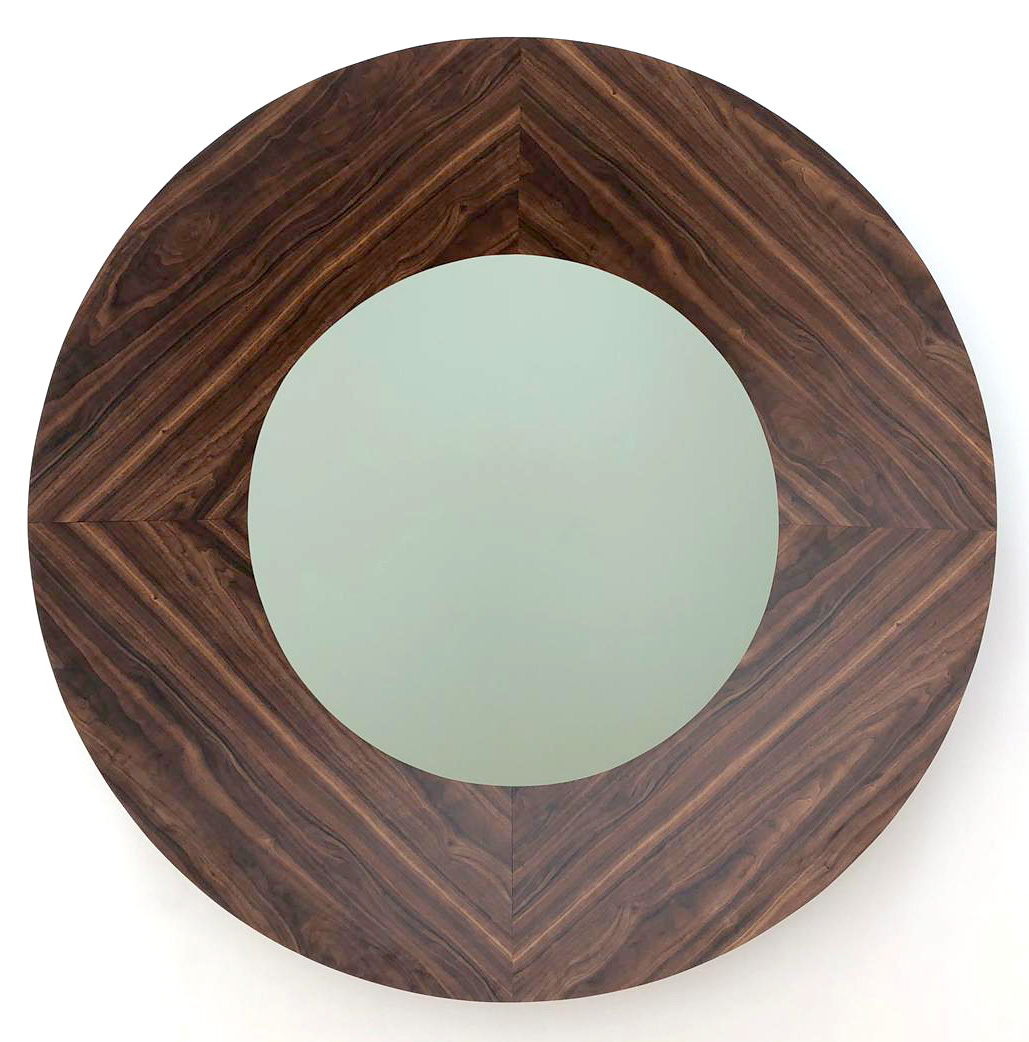 I Coulda Been A Contender Large Round Mirror Formica and enamel on wood 60 inches diameter 2019 Marc Straus Gallery