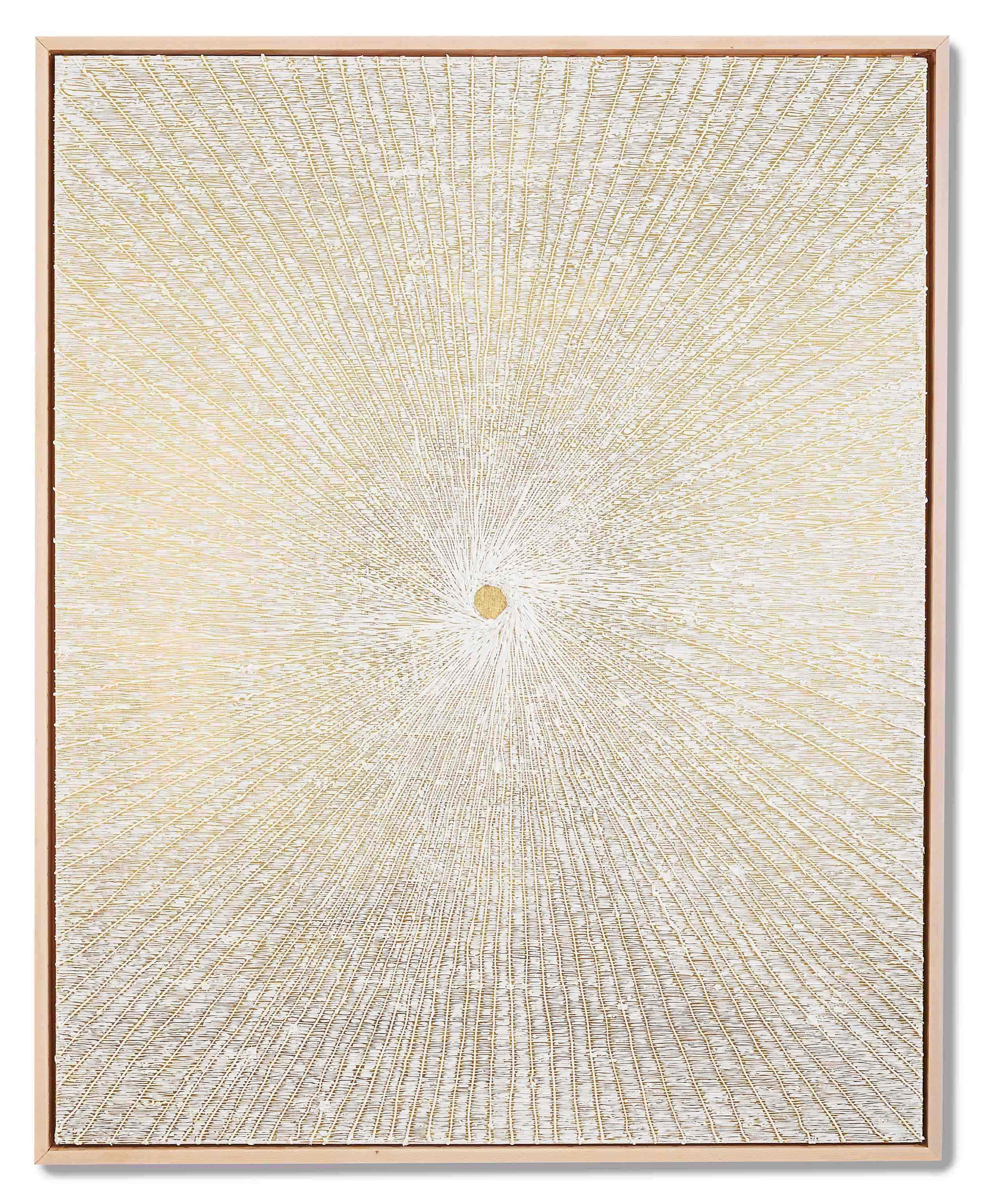 Michael Brown 2019 Oil on 24k gold in wood frame 60 x 48 x 2.5 inches (152.4 x 121.9 x 6.4 cm) 2019 Marc Straus Gallery