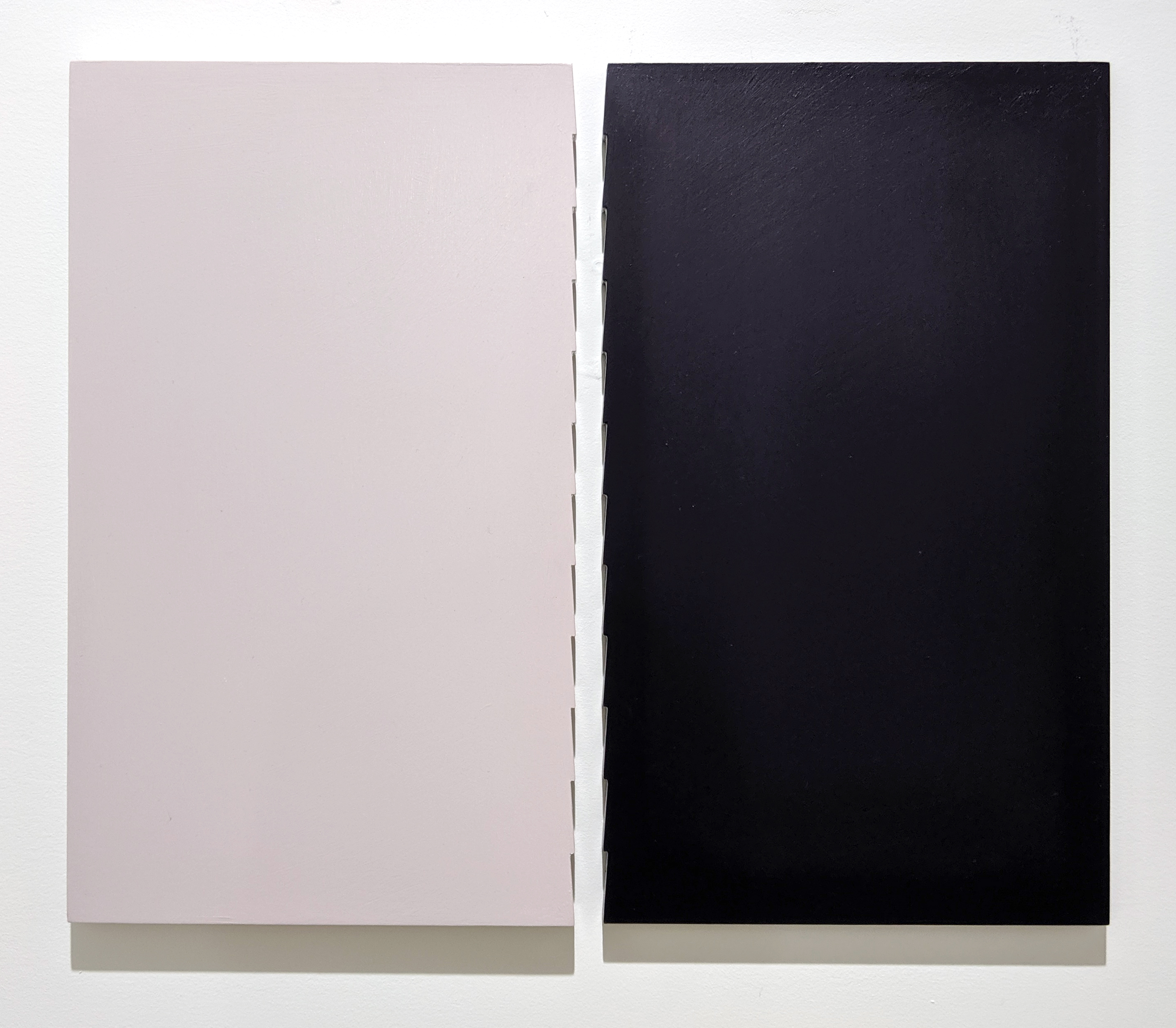 Oil on panel 14.63 x 14.63 inches, each panel (37.1 x 44.5 cm, each panel - Marc Straus Gallery