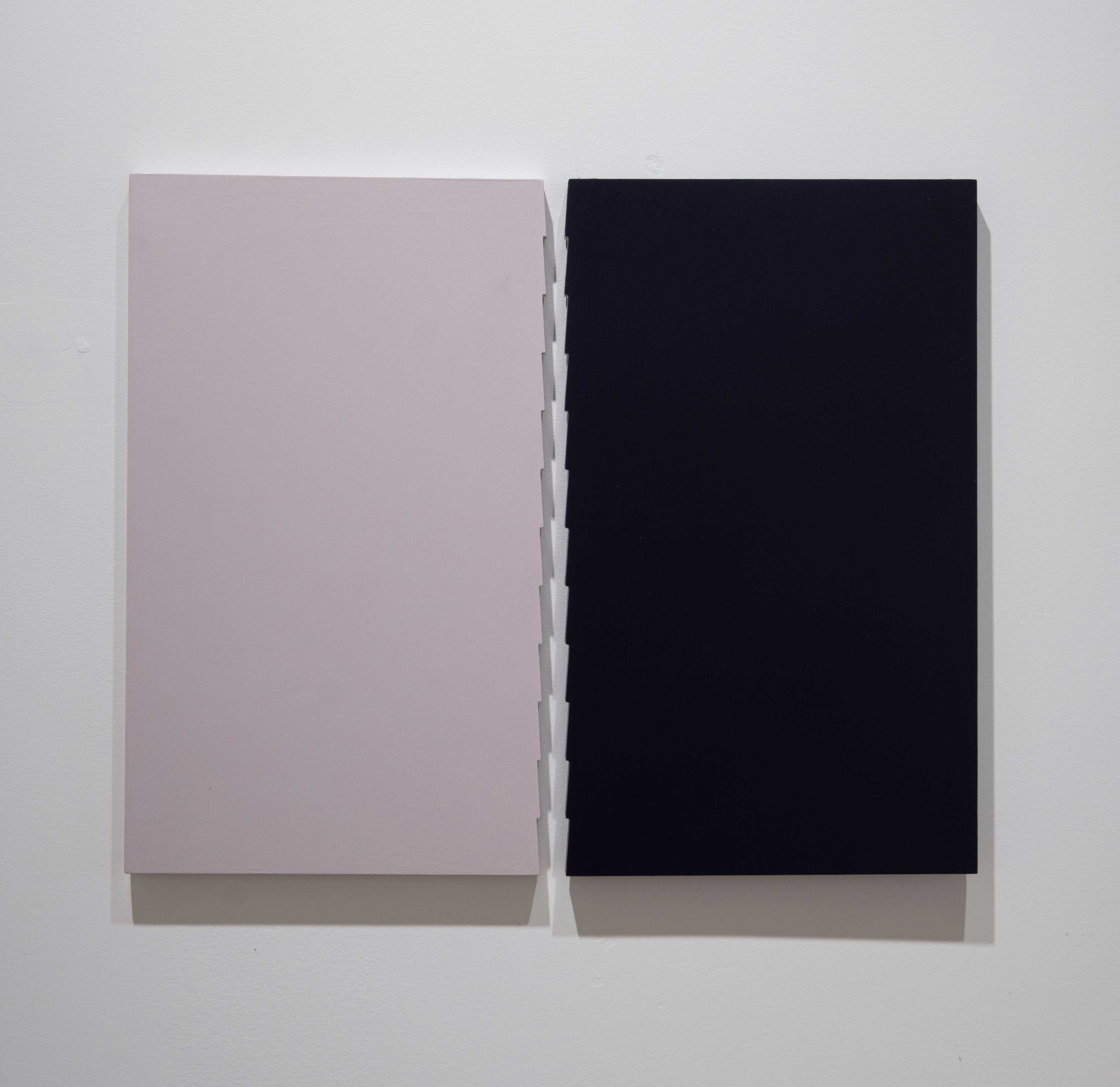 Tess Jaray 2016 Oil on board 14.5 x 18 inches (36.8 x 45.7 cm) 2019 Marc Straus Gallery