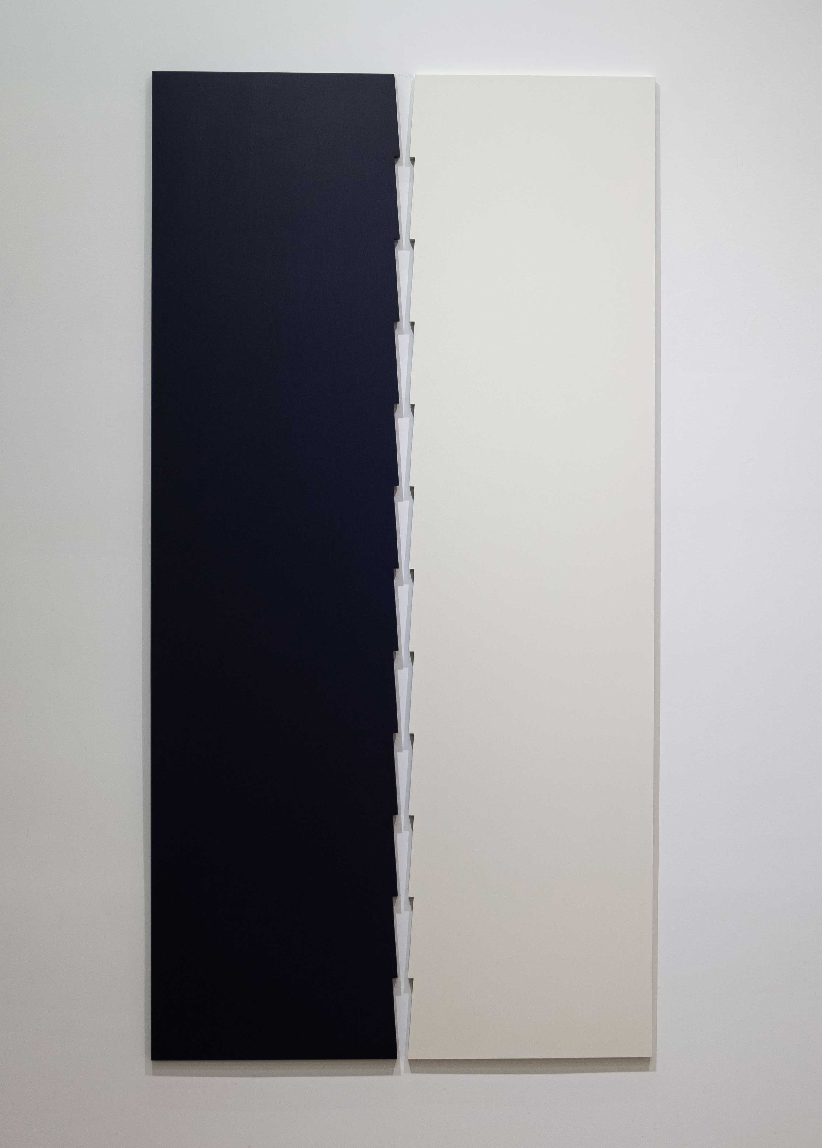 Tess Jaray 2016 Oil on board 62.6 x 31.1 inches (159 x 79 cm) 2019 Marc Straus Gallery