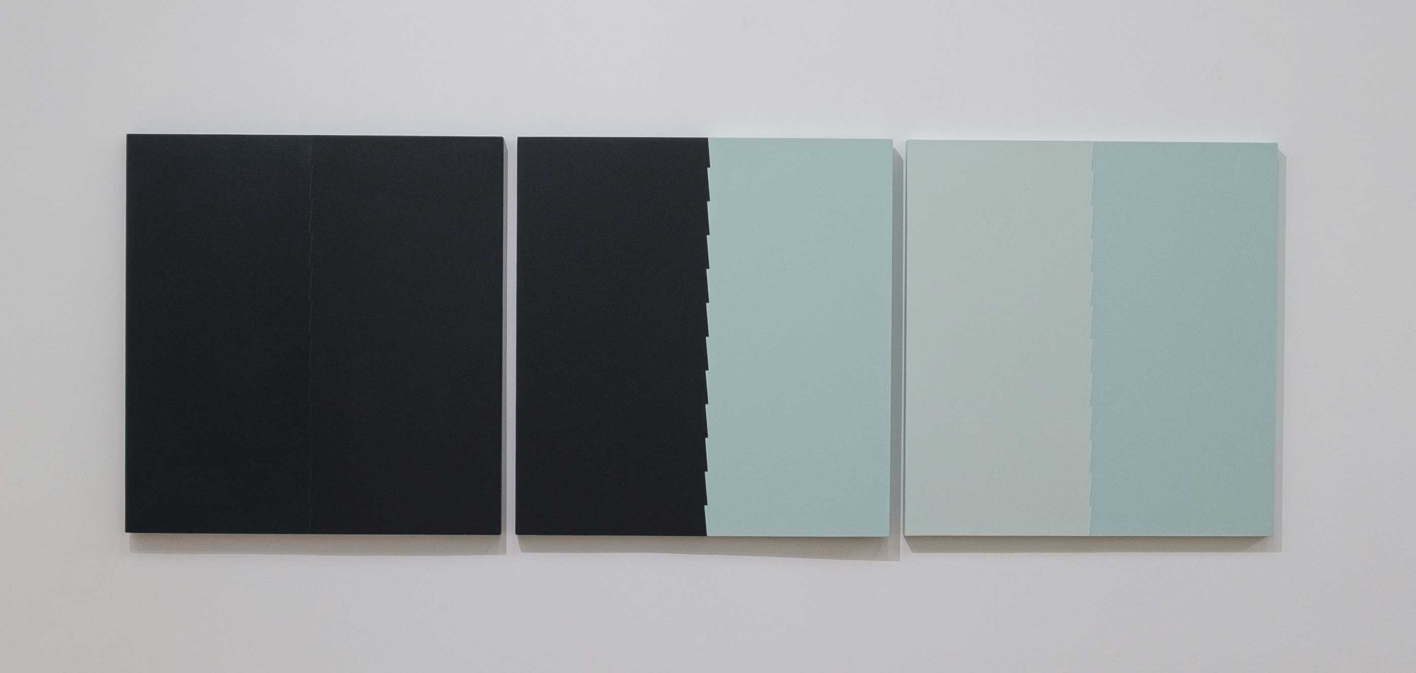 Tess Jaray 2015 Oil on board 20.1 x 57 inches (51.1 x 144.8 cm) 2019 Marc Straus Gallery