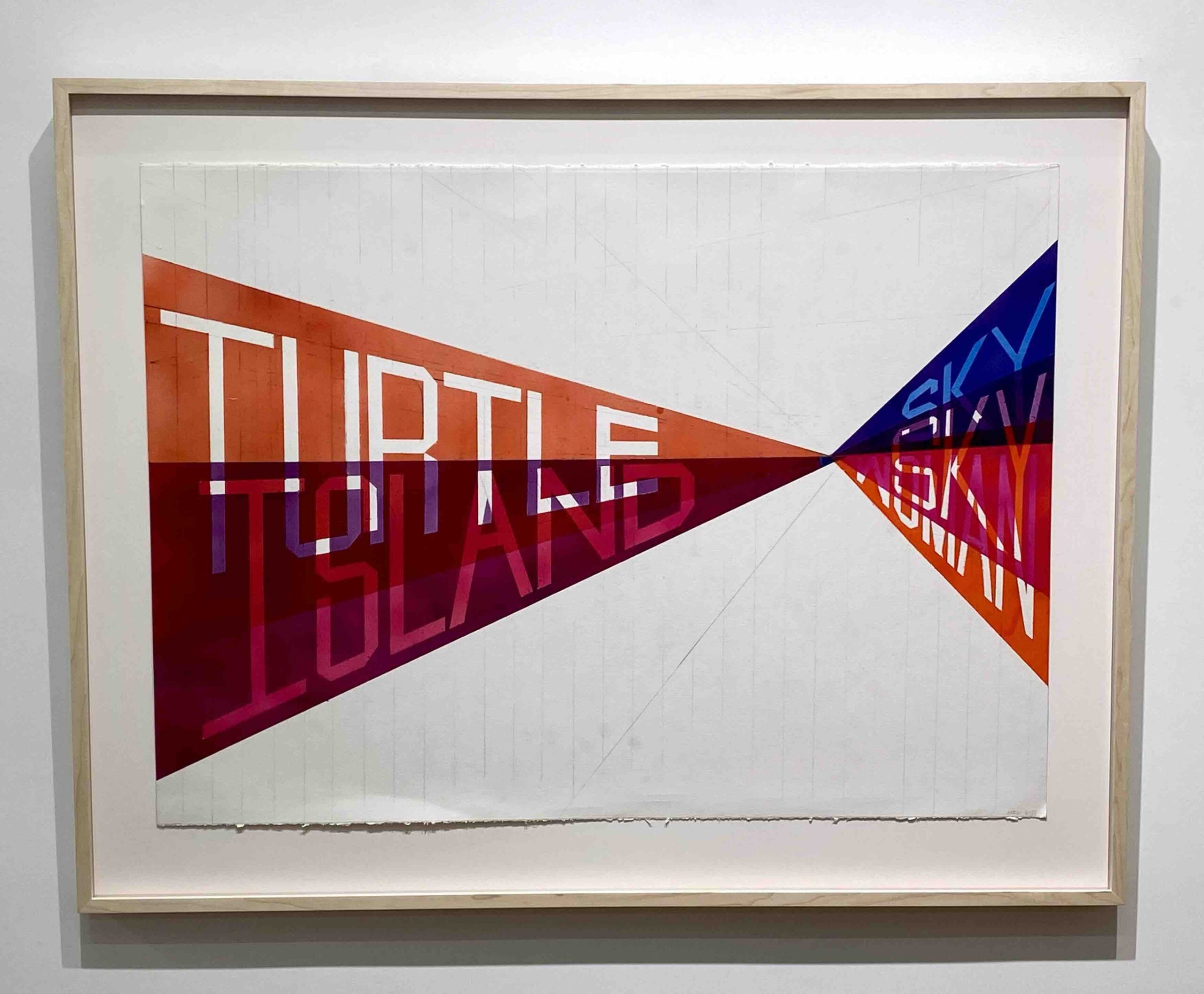 Turtle Island – Marie Watt 2020 Acrylic paint on paper 22 x 30 in 2020 Marc Straus Gallery