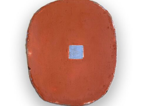 Red Oxide with Blue Square