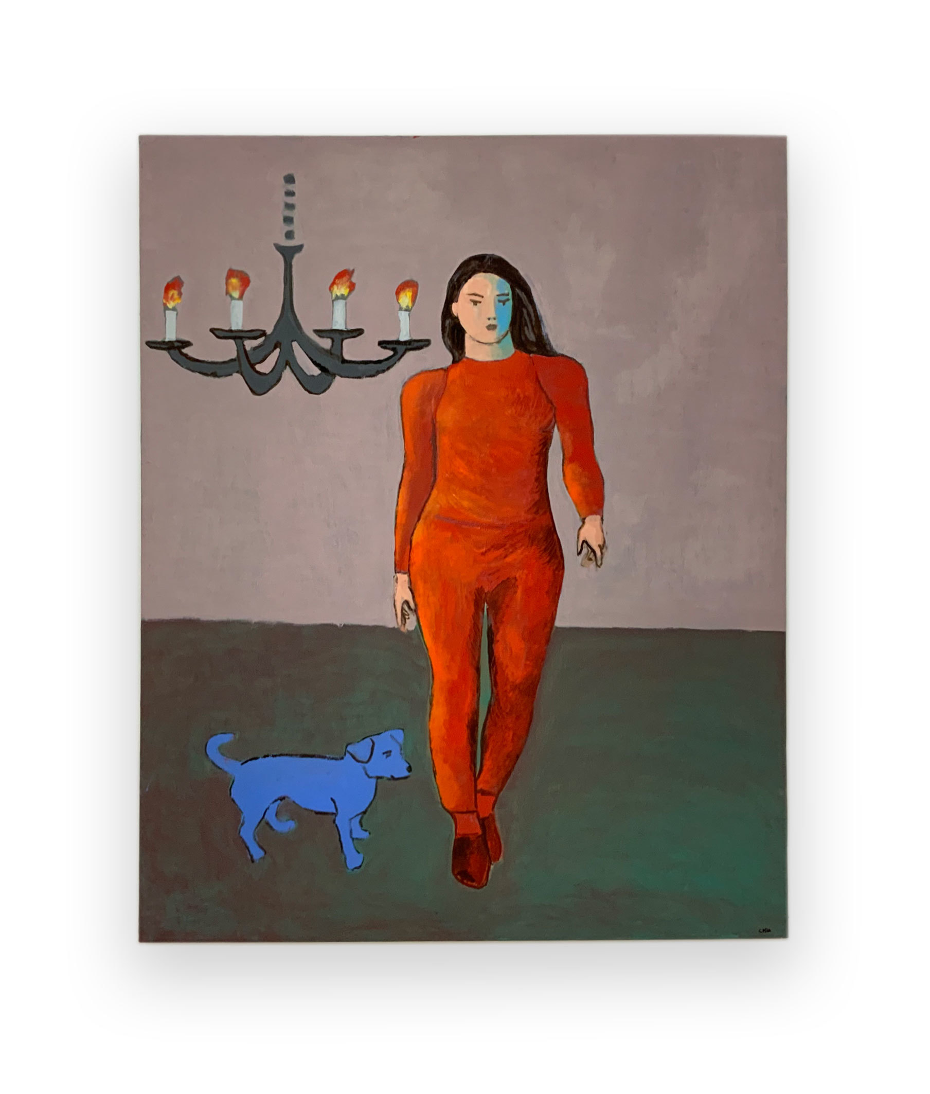 Duck Soup Lady in Red, 2020 Oil on canvas 63 x 51.2 in (160 x 130 cm)  2020 Marc Straus Gallery