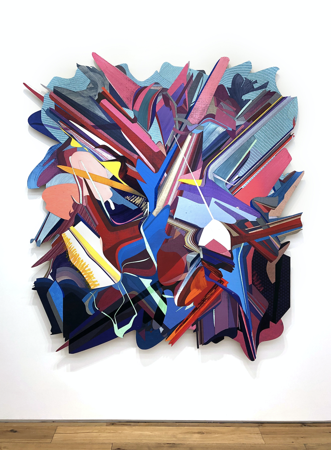 Duck Soup Jacaranda, 2020 Oil and acrylic on linen mounted on panel 78.8 x 72 in (200 x 183 cm) 2020 Marc Straus Gallery