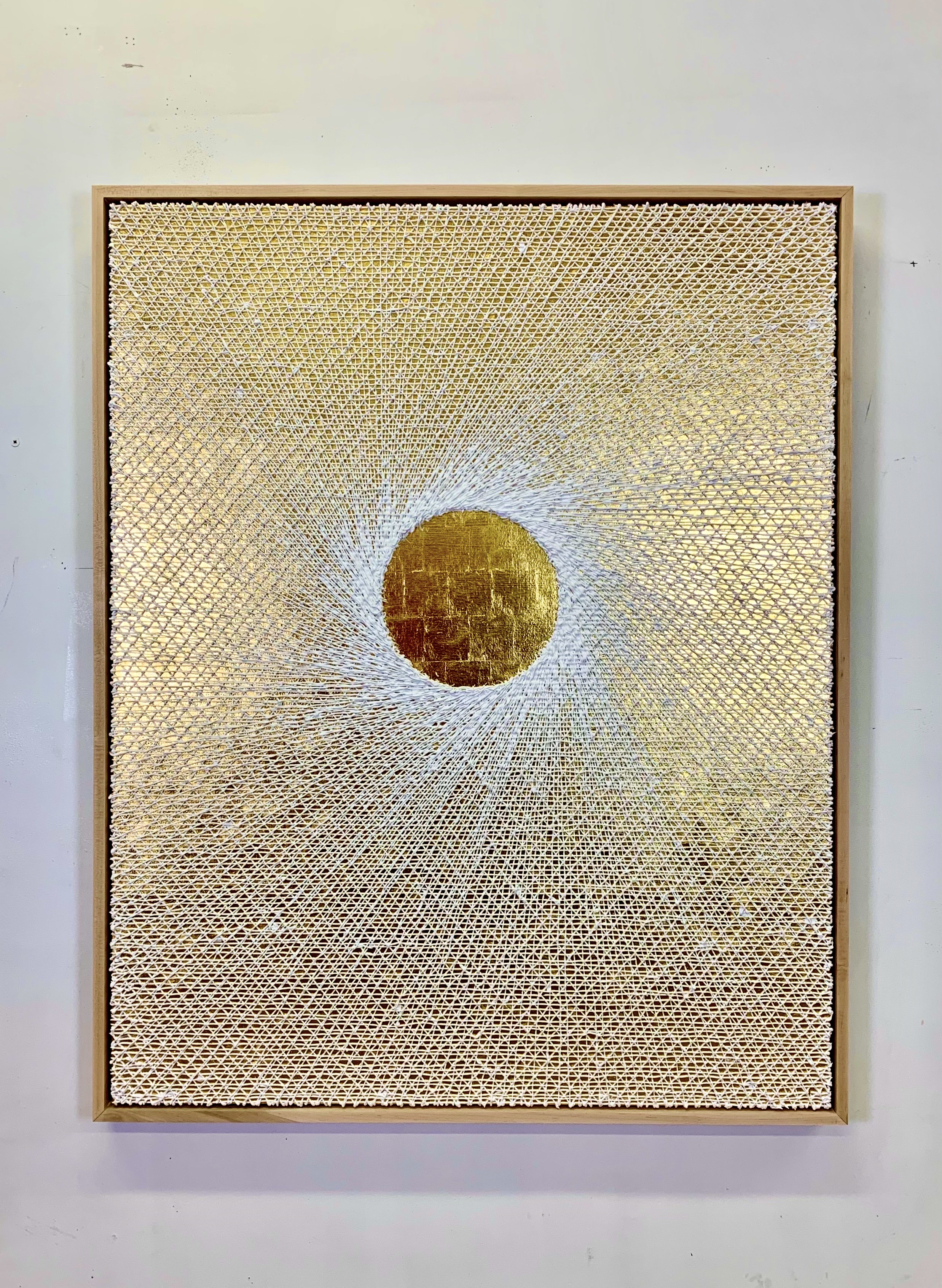 Michael Brown 2020 Oil on 24k gold on canvas mounted to panel 62 x 50 x 3 in. 2021 Marc Straus Gallery