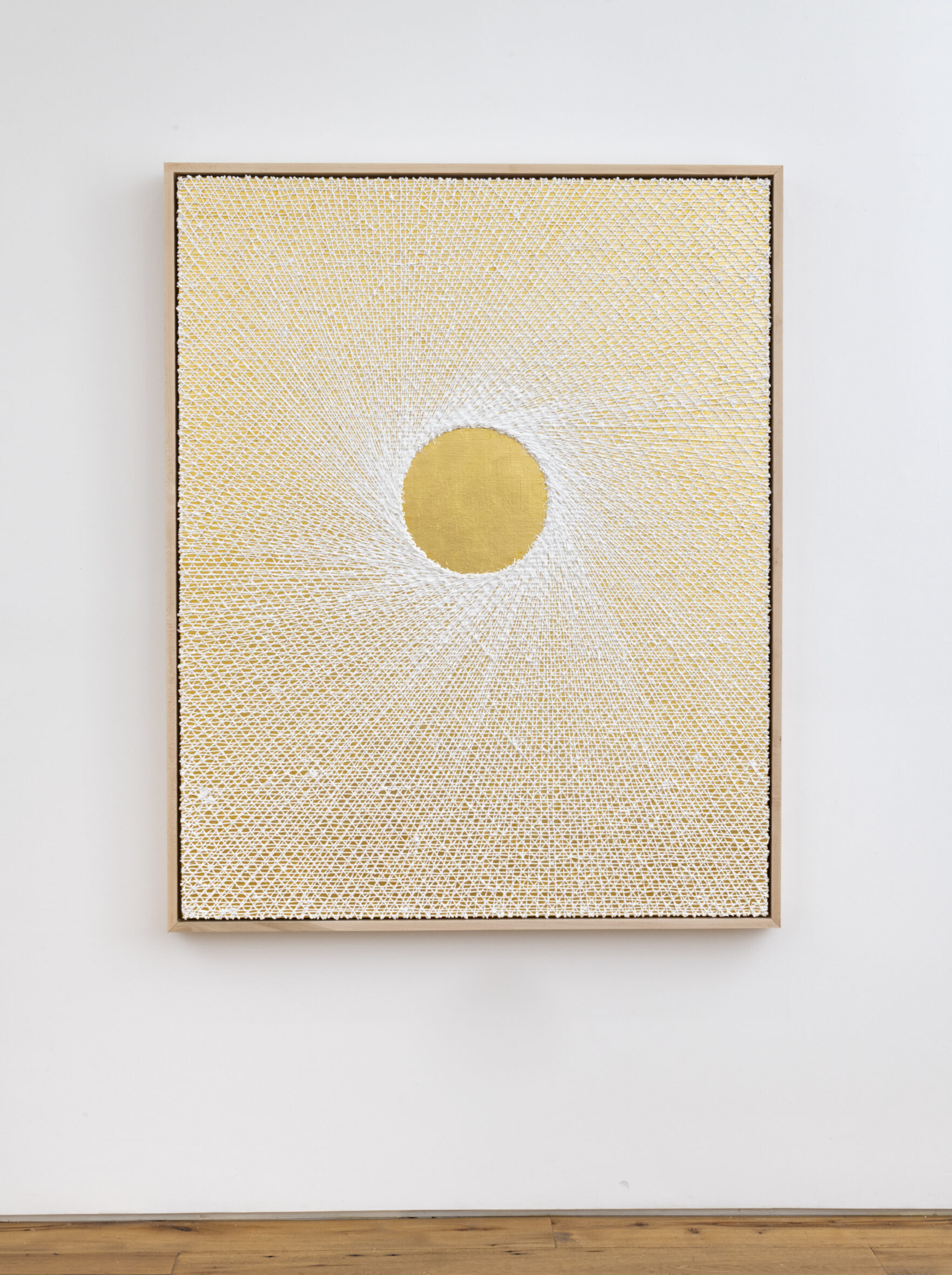 2020 Oil on 24k gold on canvas mounted to panel 62 x 50 x 3 in. - Marc Straus Gallery