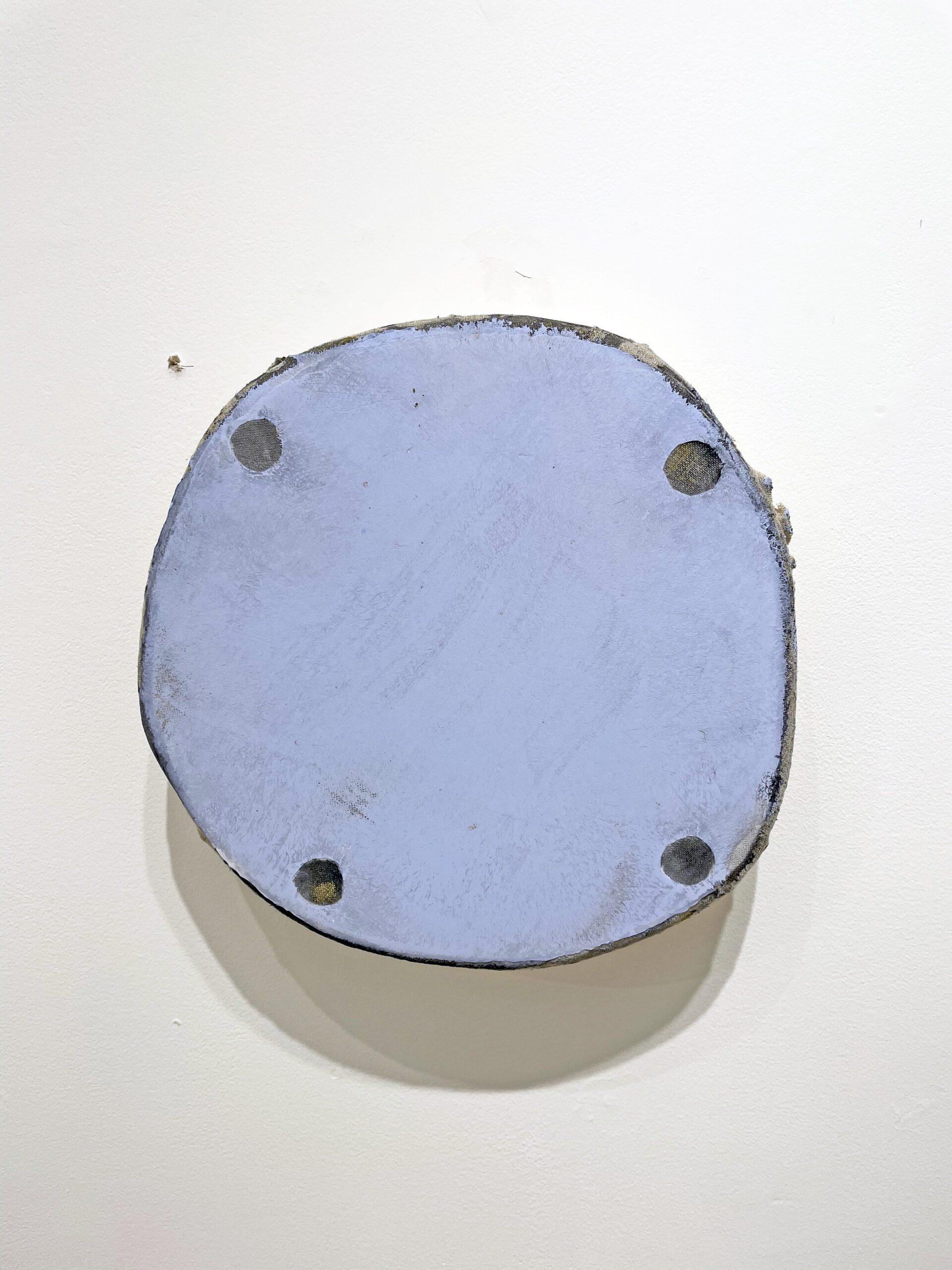 Otis Jones 2021 Acrylic on linen 11 x 10.75 x 3 inches (27.94 x 27.3 x 7.62 cm) 2021 Marc Straus Gallery