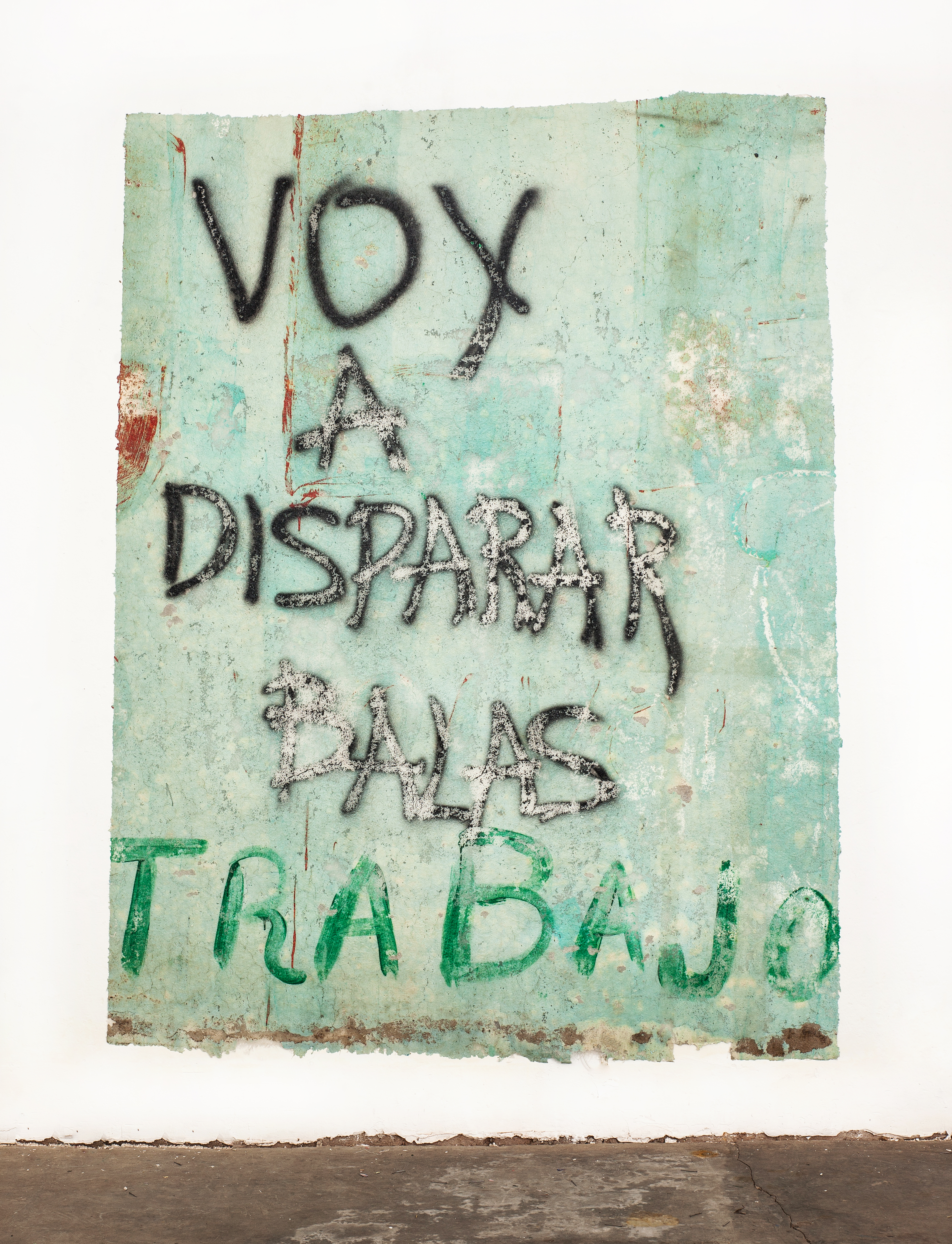 José Carlos Martinat 2021 Acrylic, fiberglass and found graffiti wall extraction 91.3 x 68.8 inches (232 x 175 cm) 2021 Marc Straus Gallery