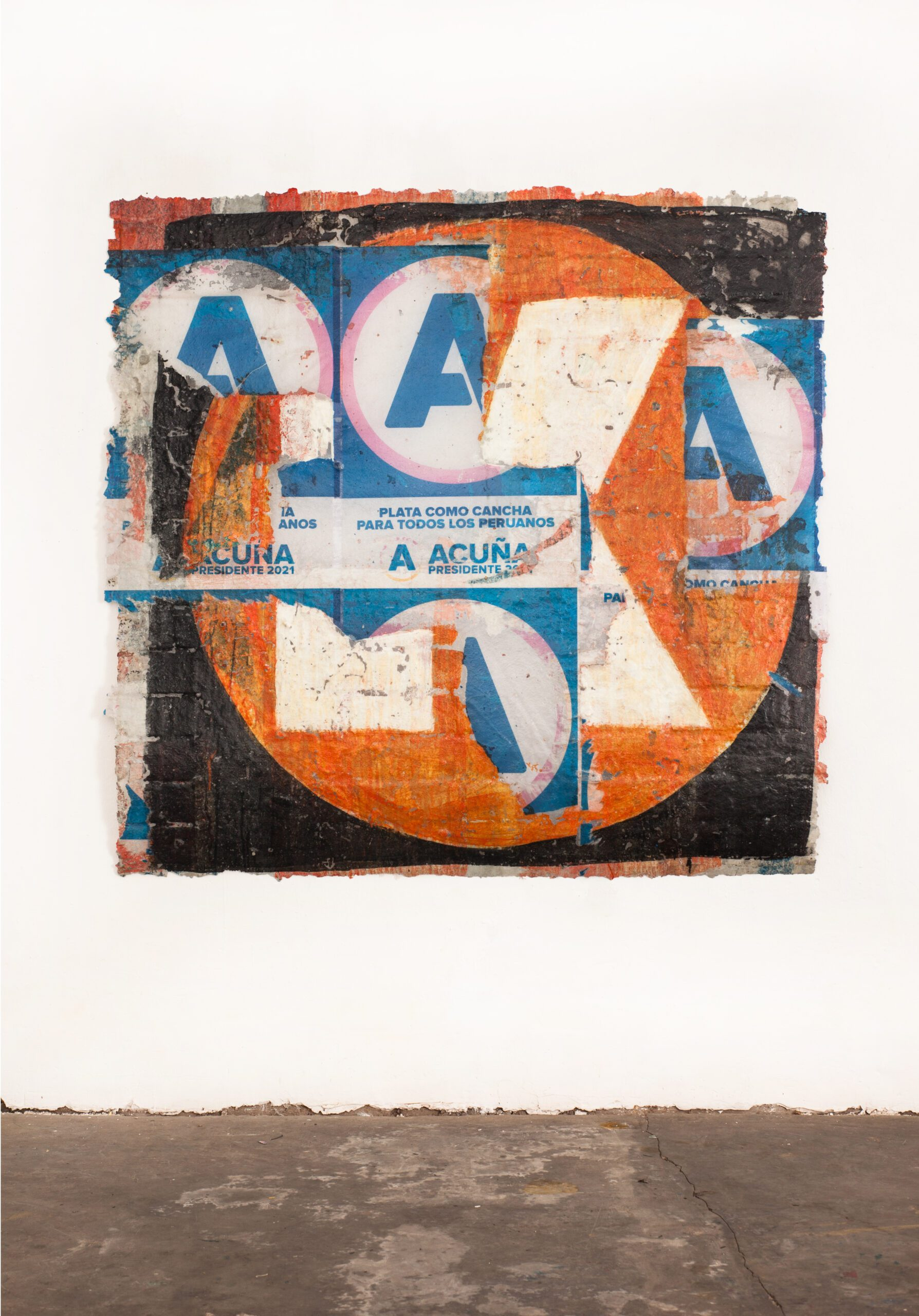 José Carlos Martinat 2021 Acrylic, fiberglass and found graffiti wall extraction 66.9 x 70.8 inches (170 x 180 cm) 2021 Marc Straus Gallery