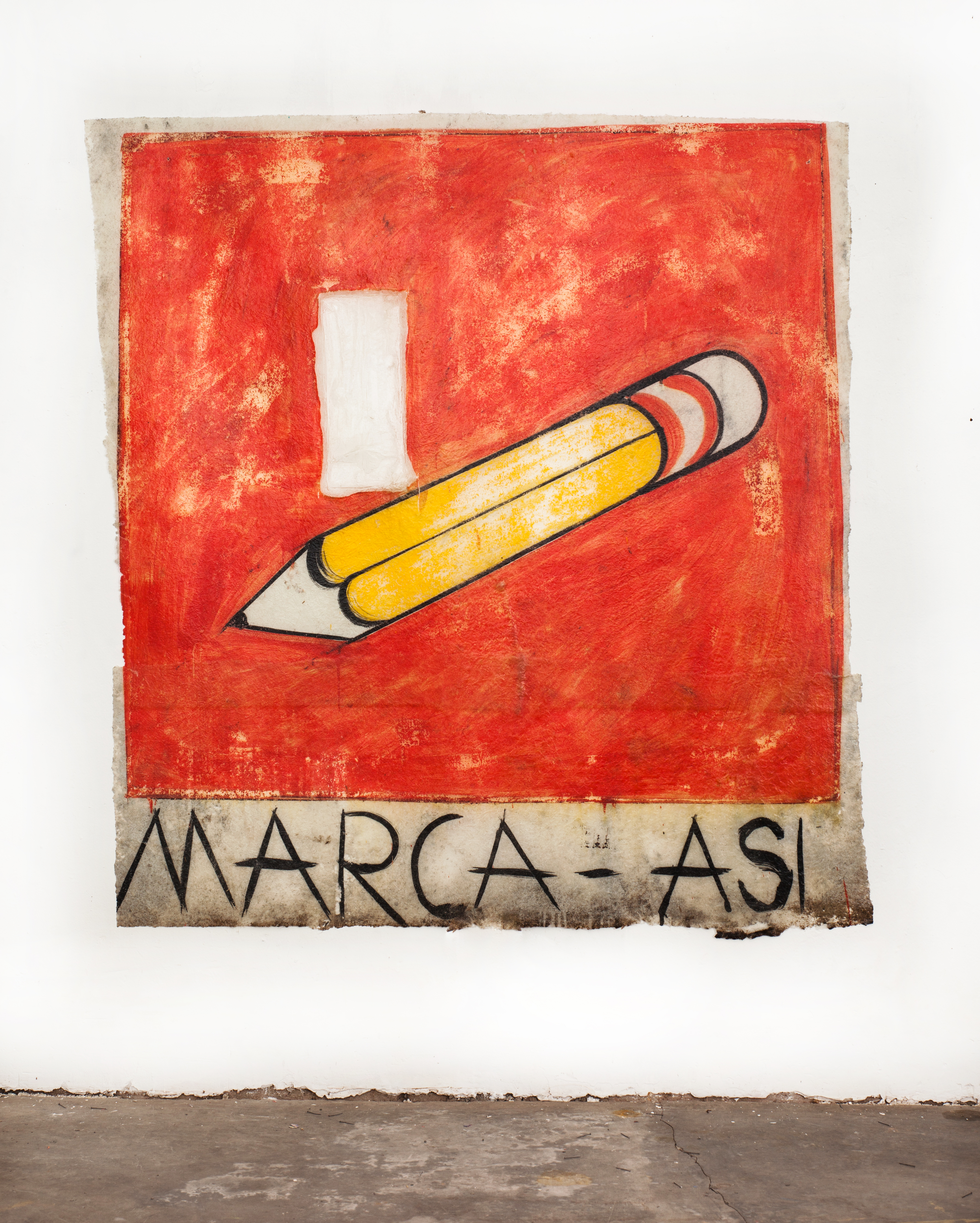 José Carlos Martinat 2021 Acrylic, fiberglass and found graffiti wall extraction 75.5 x 71.6 inches (192 x 182 cm) 2021 Marc Straus Gallery