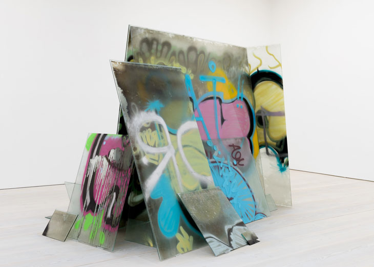 2011 Glass and spray paint Dimensions variable - Marc Straus Gallery