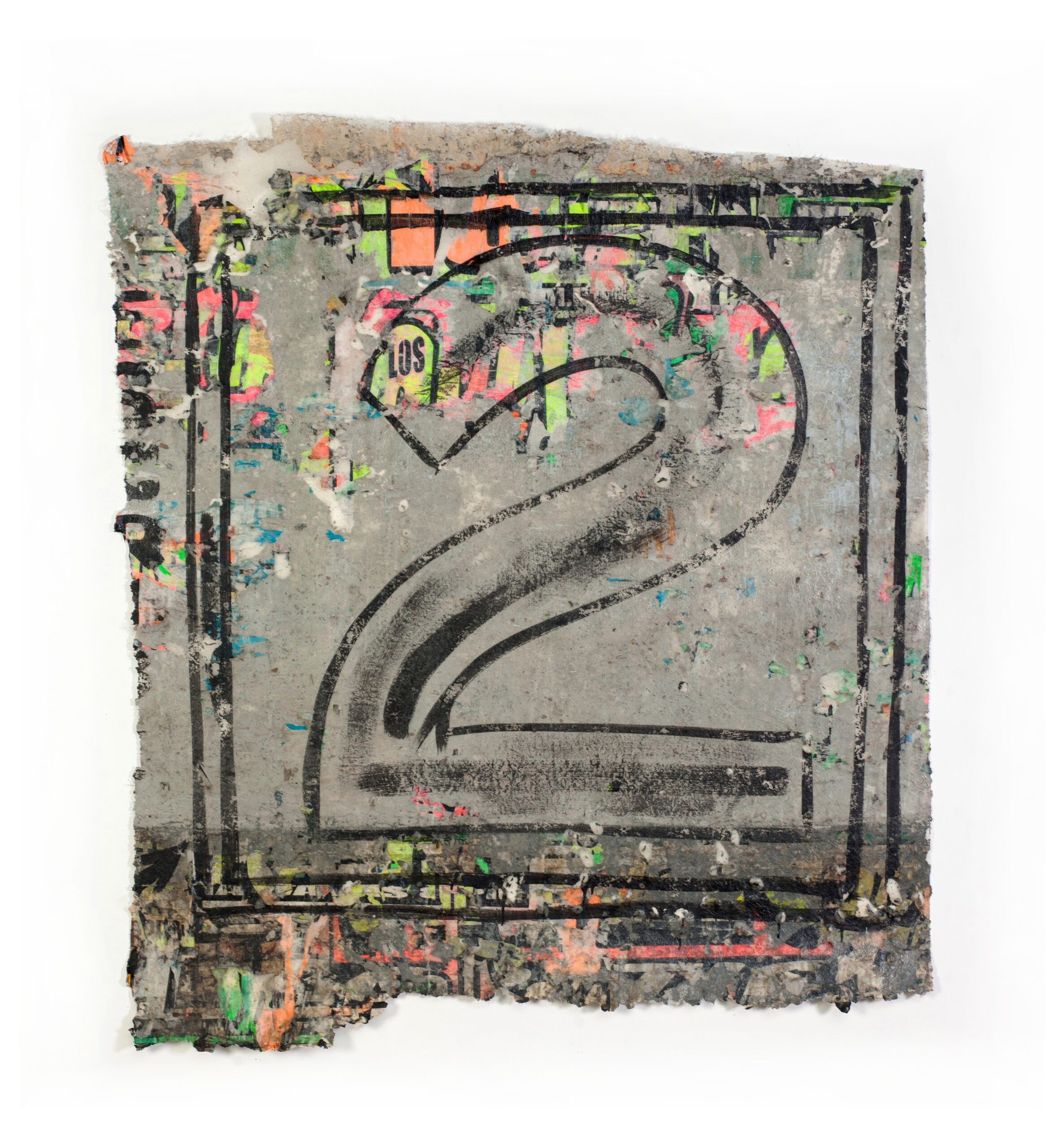 RUINOPHILIA – José Carlos Martinat 2021 Found graffiti and acrylic wall extraction 78.74 x 70.8 inches (200 x 180 cm) 2021 Marc Straus Gallery