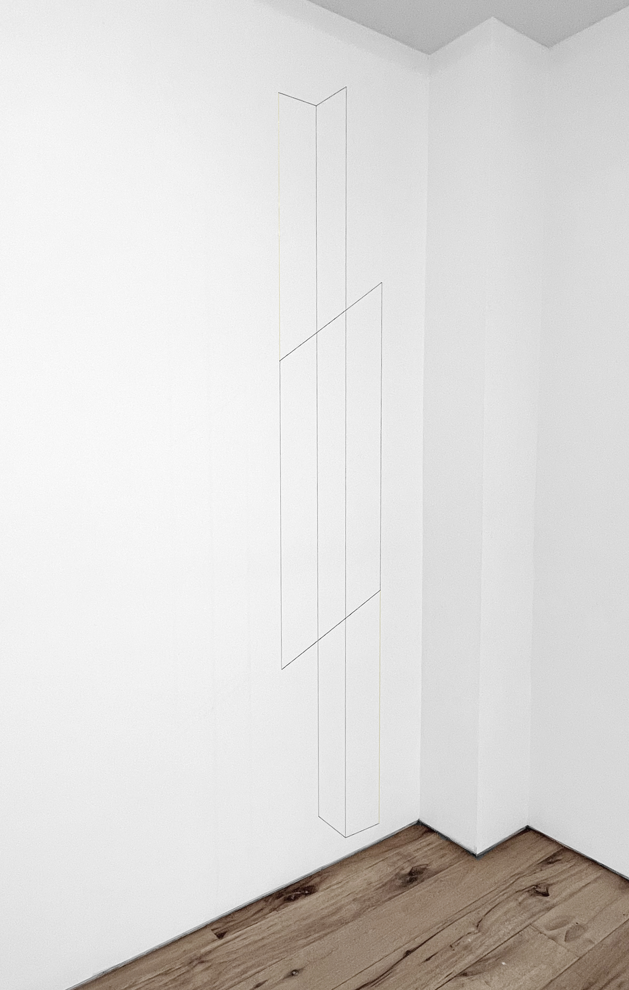 Jong Oh 2021 Metal rod, chain, fishing wire, string, paint. 62 x 8.5 x 8.5 in. 2021 Marc Straus Gallery