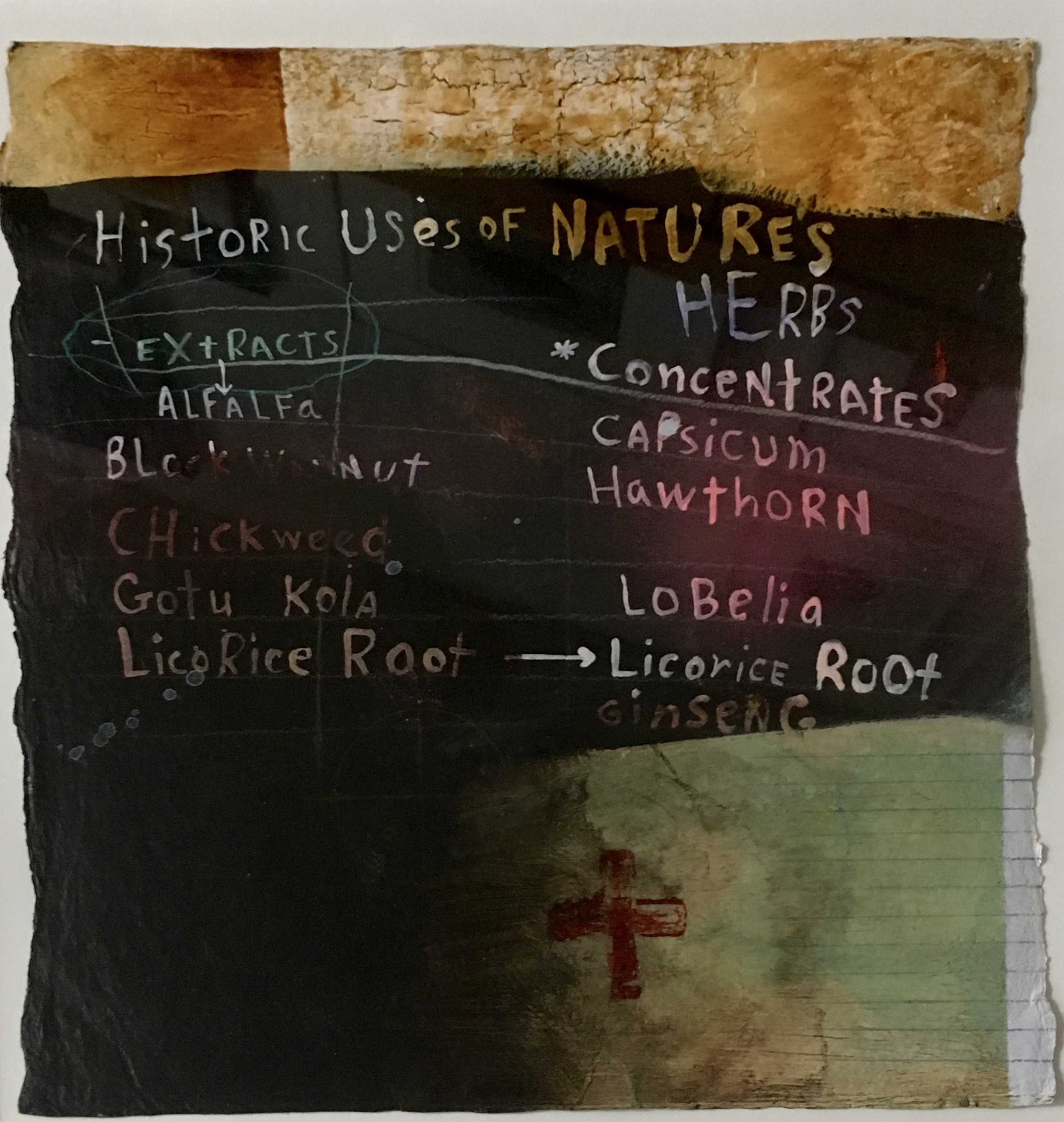 Renée Stout 2019 Acrylic paint and mixed media on handmade paper  20 x 19 in (50.8 x 48.3 cm) (Framed) 2021 Marc Straus Gallery