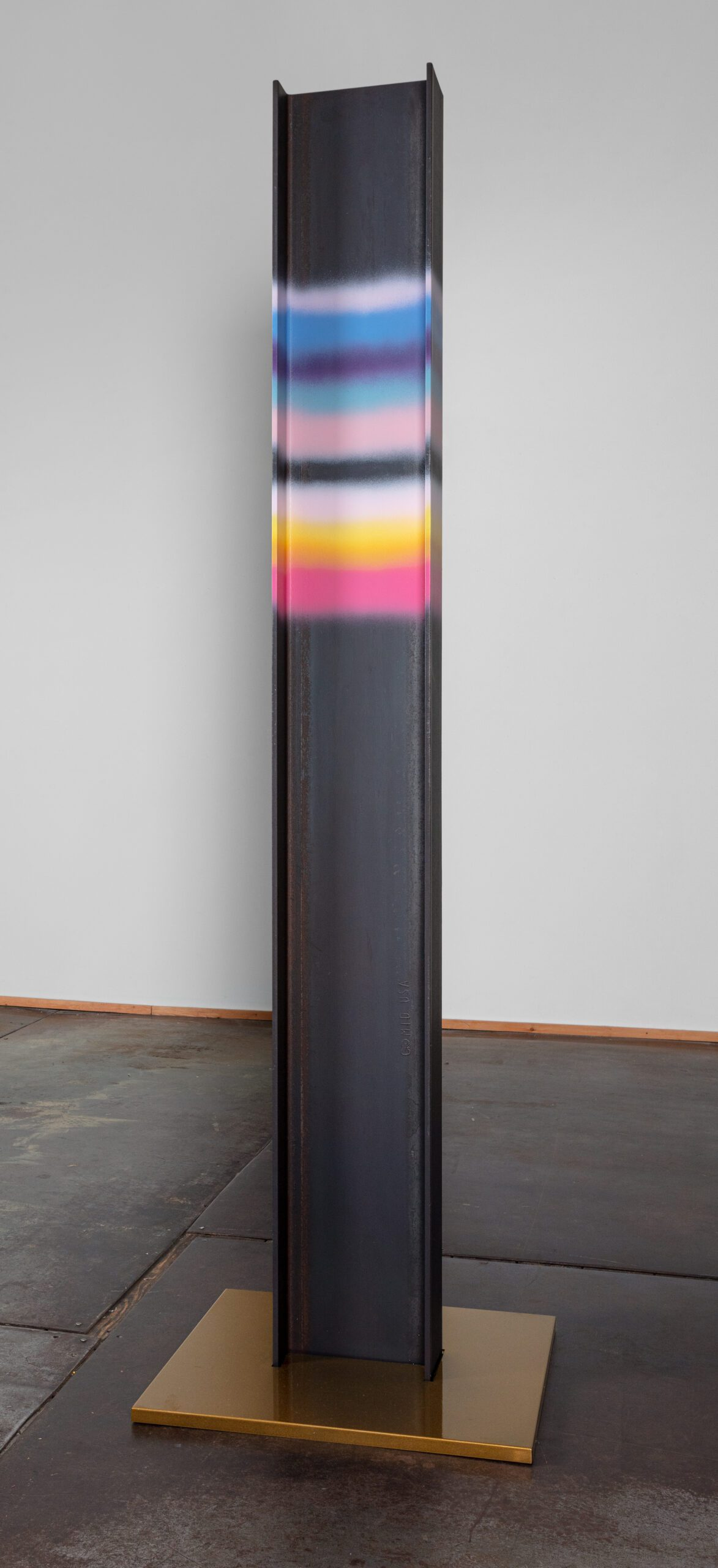 Marie Watt (b. 1967)  Steel I-beam, cold rolled steel cap  96 x 24 x 24 inches  (243.84 x 60.96 x 60.96 cm)  Photography by Kevin McConnell - Marc Straus Gallery