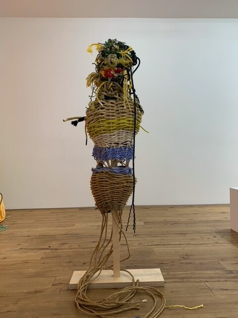 The Pattern of Patience Tamar Ettun 2021 Rope and wood. 69x25x29 in. 2021 Marc Straus Gallery