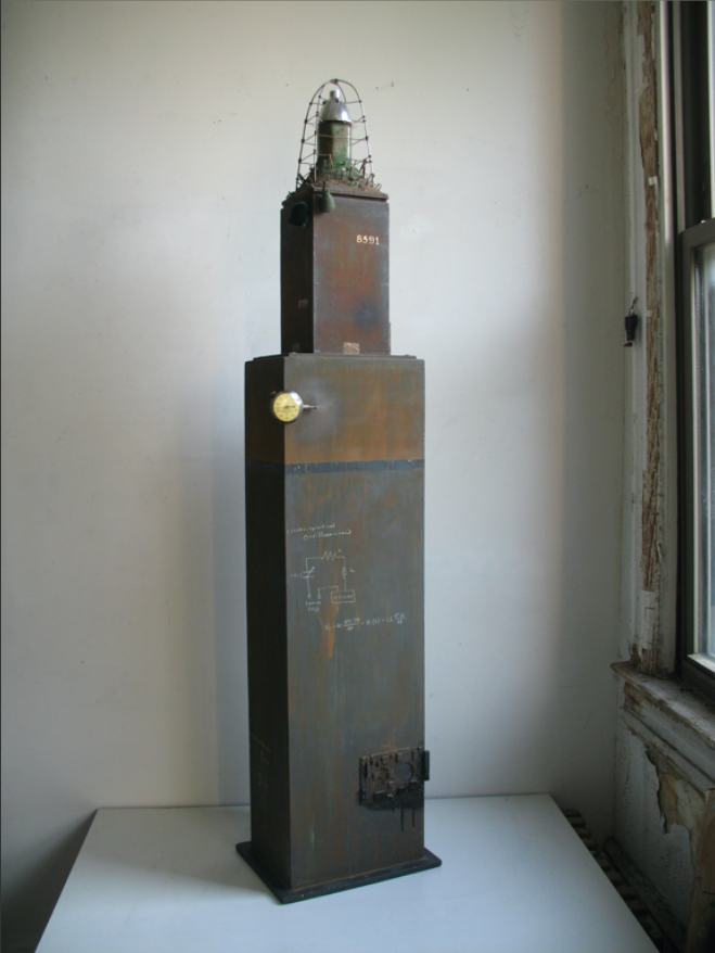 2007 - 2014 Wood, paint, glass, found metal objects, organic materials and graphite 59 x 12.5 x 10 in 149.86 x 31.75 x 25.4 cm - Marc Straus Gallery